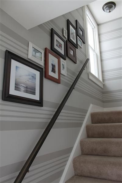 Striped walls guest room idea painting ideas for Painting stripes on walls