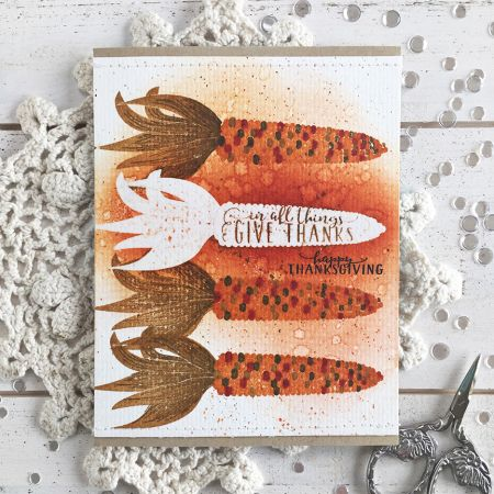Happy Thanksgiving Card By Heather Nichols For Papertrey Ink (August 2017)