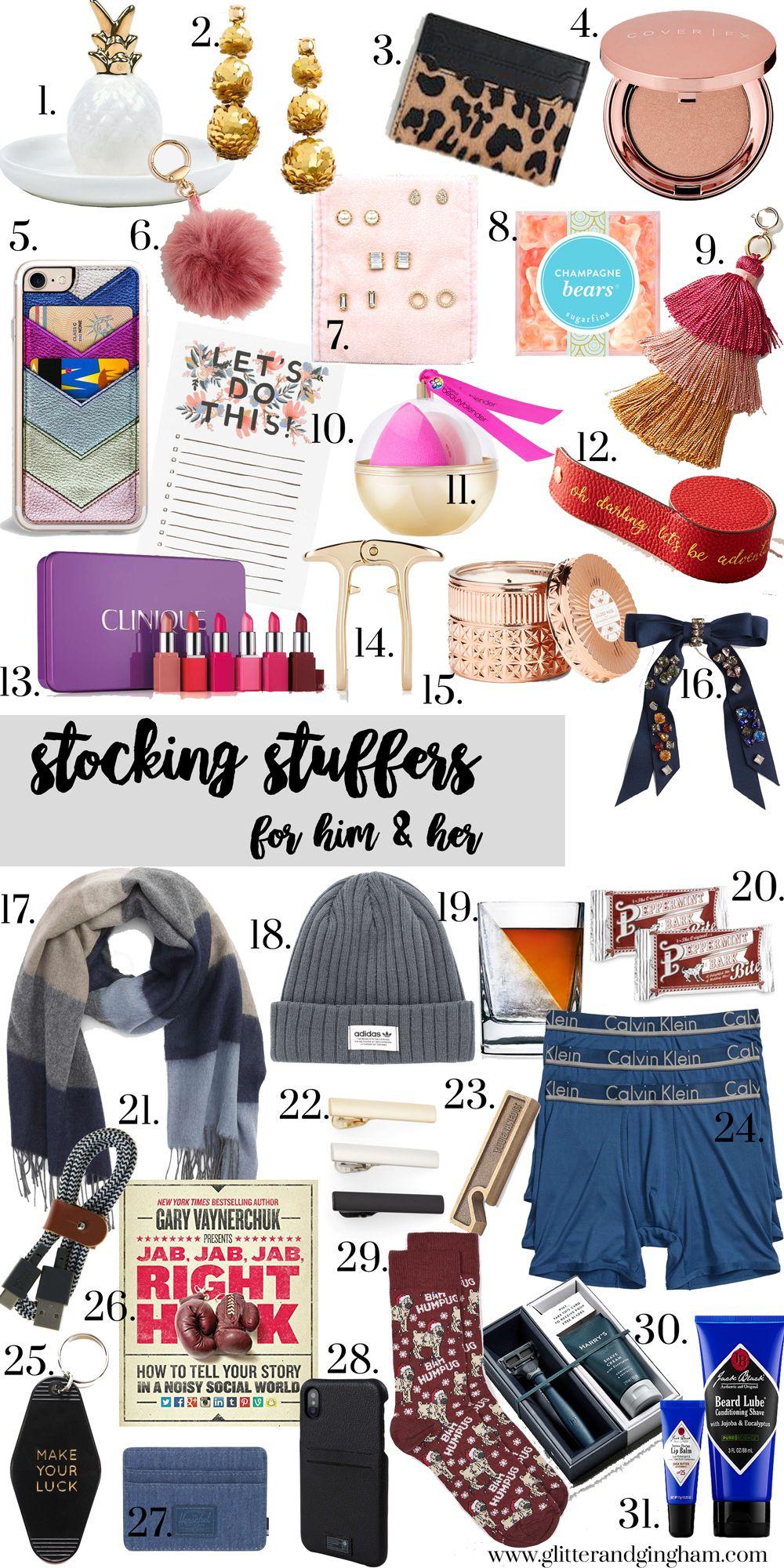 Stocking Stuffer Gift Ideas For Him Her Glitter Gingham Stocking Stuffer Gifts Teenage Girl Gifts Christmas Christmas Gifts For Girls