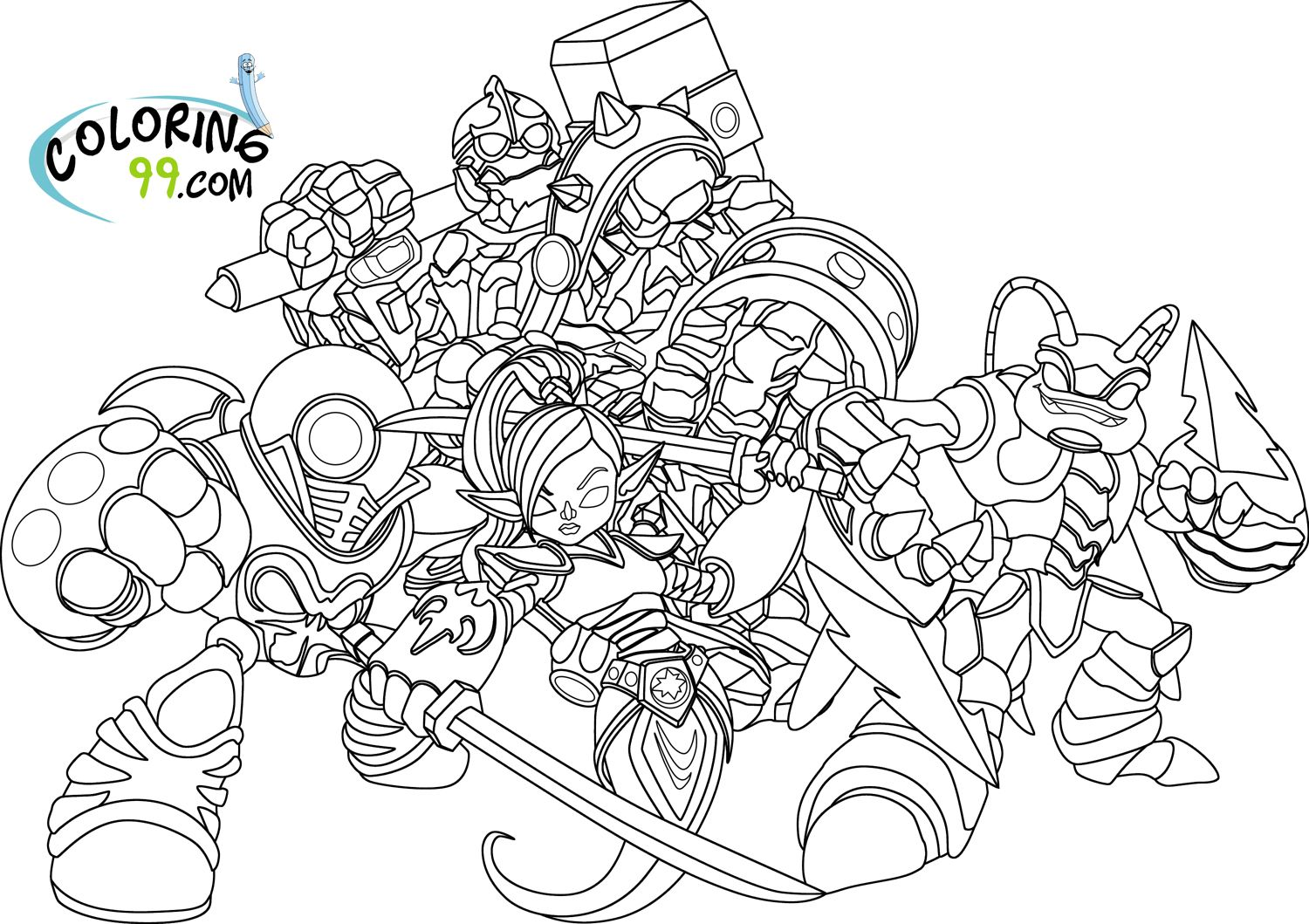 Skylanders Giants Coloring Pages Cartoon Coloring Pages Free