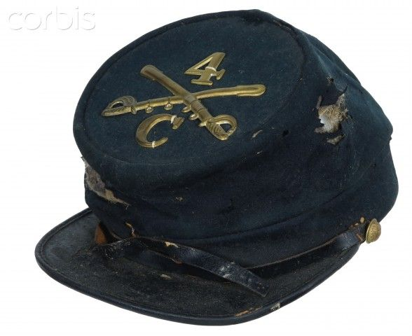 United States Civil War, Forage cap worn by a soldier of the 4th Massachusetts Cavalry