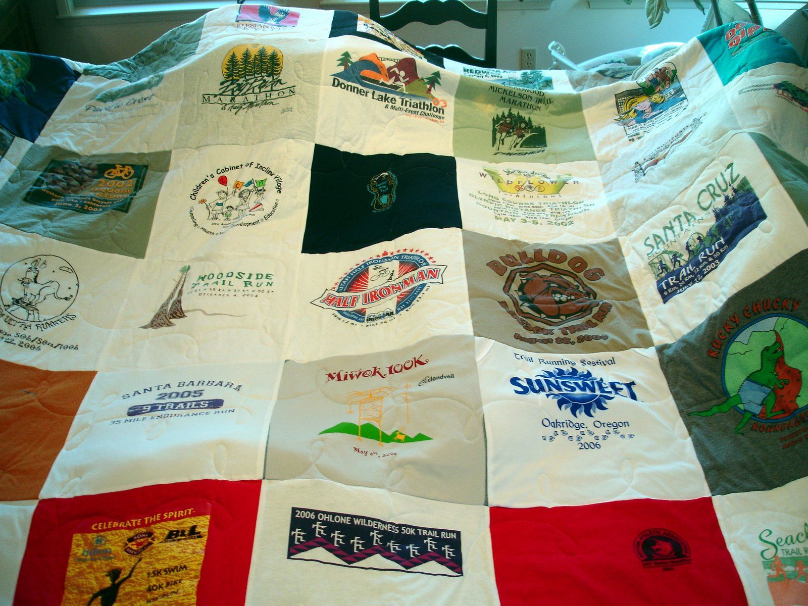 0cb8c3583bf A new reason to run! Free t-shirts so you can start on your very own race  quilt. Another great way to remember your accomplishments.