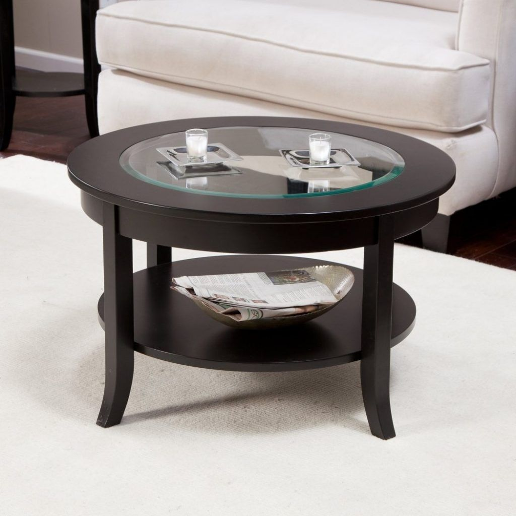 Genoa Round Coffee Table With Glass Top Small Coffee Table Round Wood Coffee Table Coffee Tables For Sale [ 1024 x 1024 Pixel ]