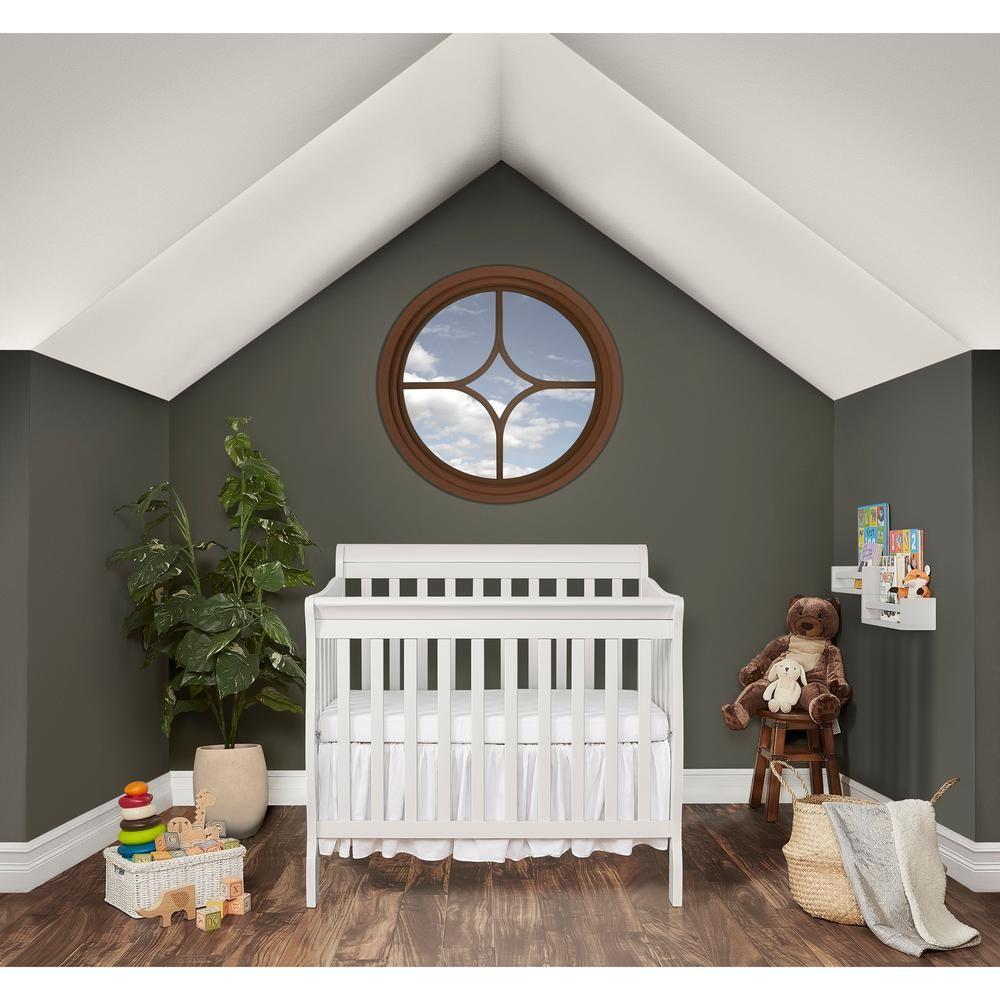 Dream On Me Aden White 4 In 1 Convertible Mini Crib Mini Crib Cribs Convertible Crib