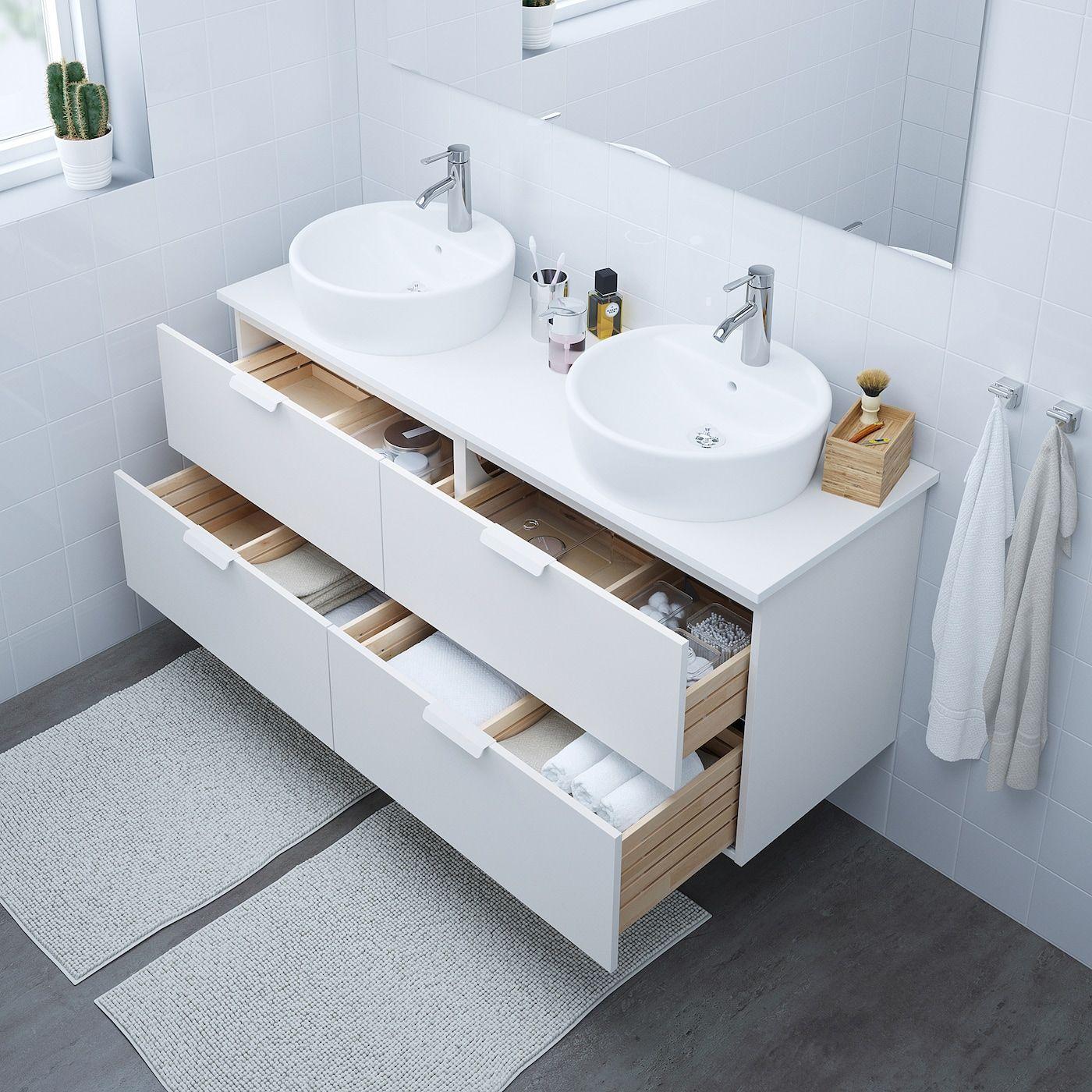 Godmorgon Bathroom Vanity White Canada Ikea In 2020 White Vanity Bathroom Ikea Vanity Ikea Godmorgon