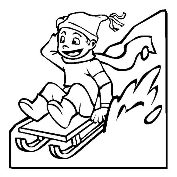 Winter Coloring Pages Sledding Coloring Pages Coloring Pictures