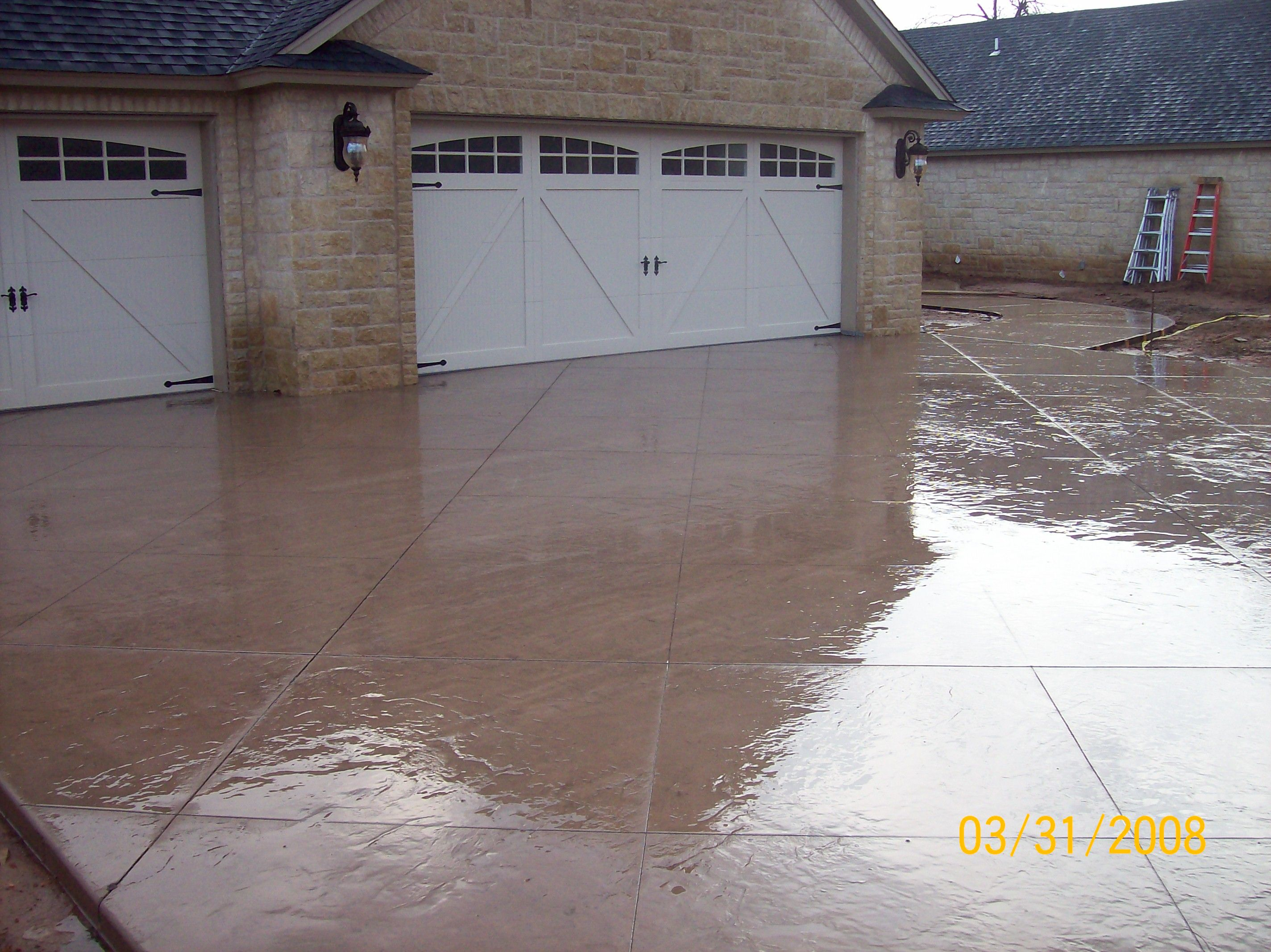 Calculate How Much Pigment You Need For Concrete Truck Pours Poured Concrete Patio Concrete Walkway Concrete Patio