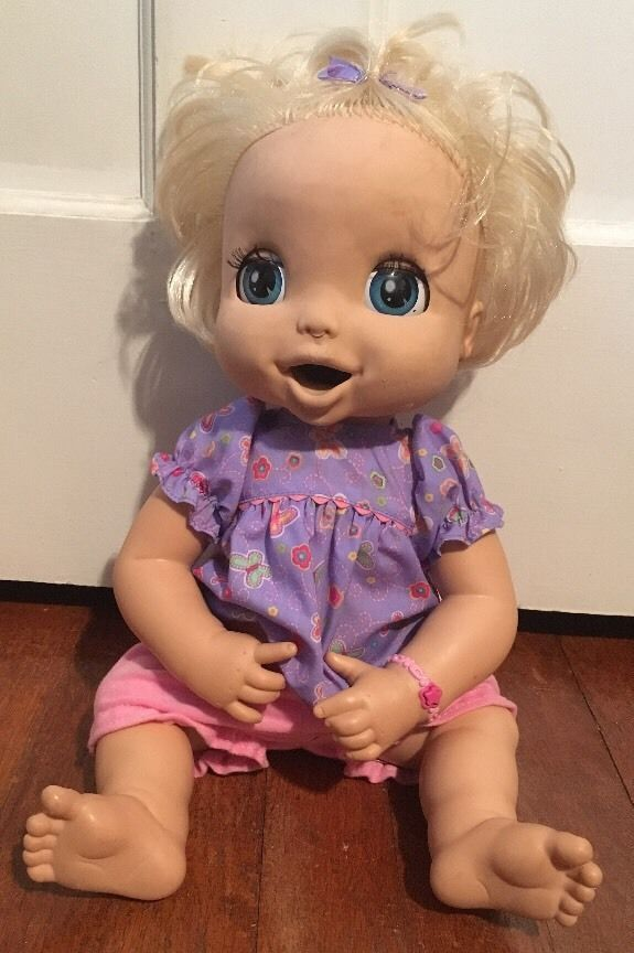 2006 Hasbro Soft Face Interactive Baby Alive Doll Blonde