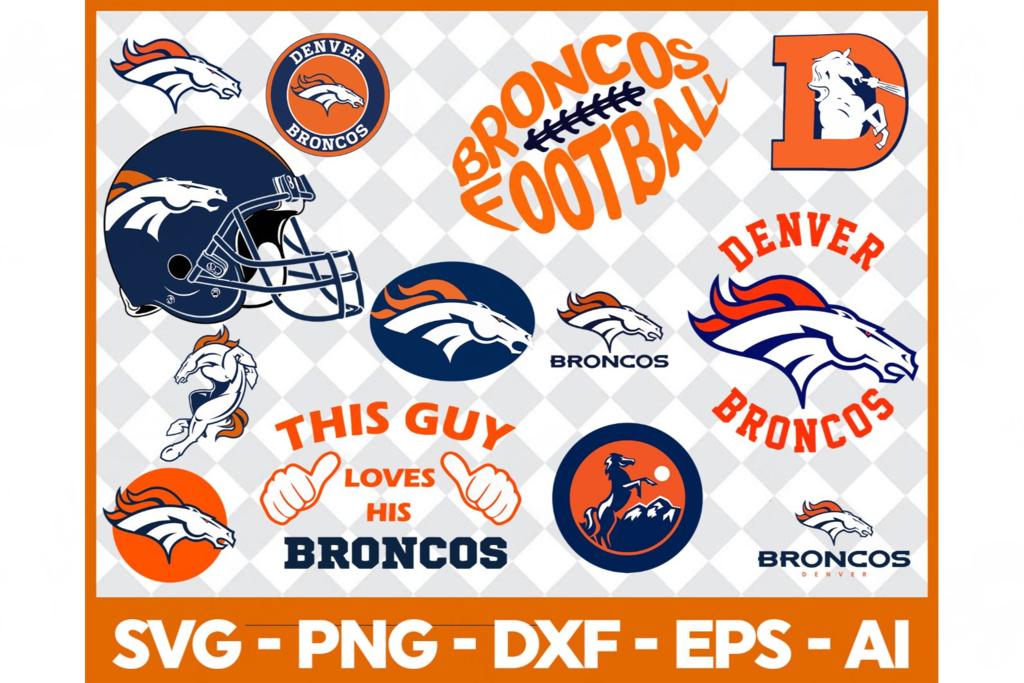 Denver Broncos,nfl svg, Football svg file, Football logo