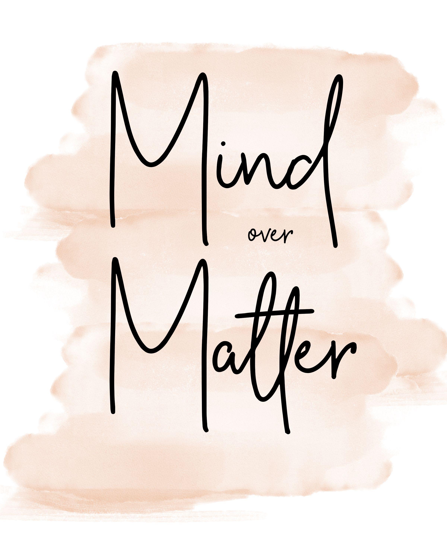 Mind Over Matter (Blush Background) - Minimalist Print