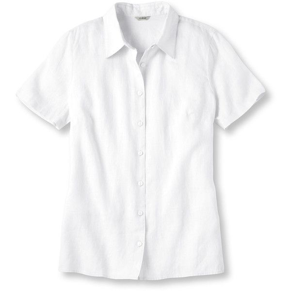 L L Bean Women 39 S Premium Washable Linen Top Short Sleeve