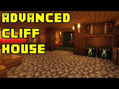Minecraft Advanced Mountain Cliff Cave House Build Tutorial Xbox