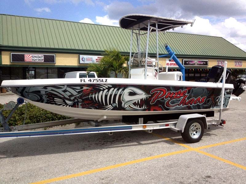 Cool wraps by the guys at marine wraps florida vinyl for Fishing boat wraps