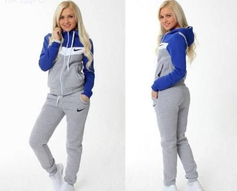 tracksuit gray and blue | Ropa deportiva mujer nike, Ropa ...