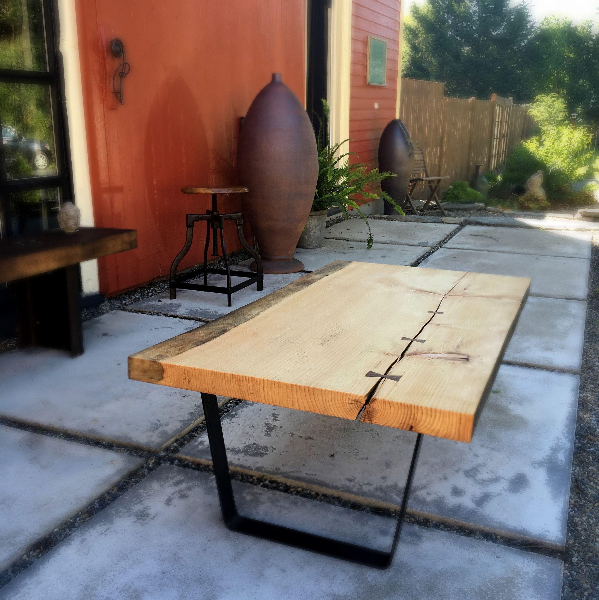 Live Edge Pine Coffee Table & Live Edge Pine Coffee Table | Pine coffee table Pine and Dark walnut