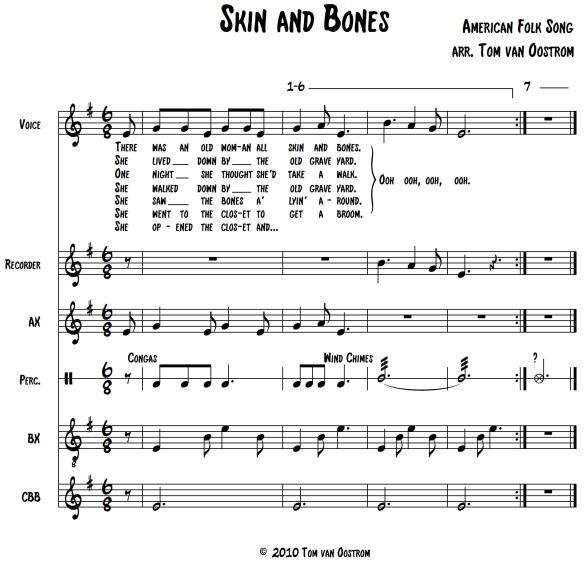 26 Best Images About Boomwhackers Sheet Music Partituras: 'Skin And Bones' Orff Arrangement