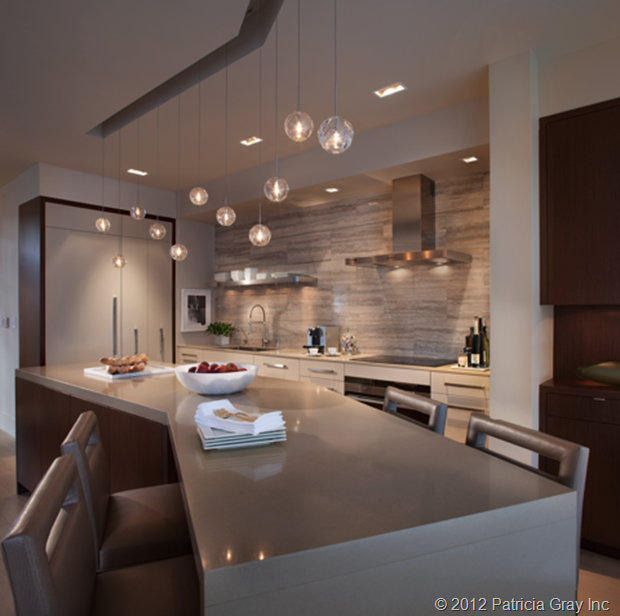 Modern Urban Contemporary Gray Kitchen Interior Design: Like The Counter Going To Be A Table At The End. From