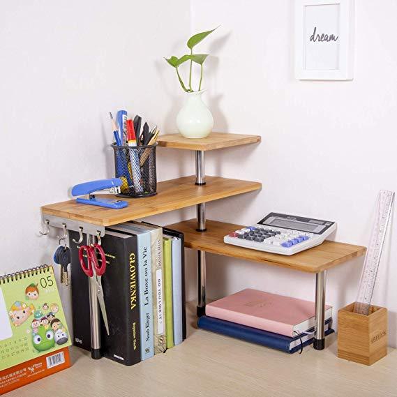 Amazon Com Olive Desktop Organizer Office Kitchen Corner Shelf