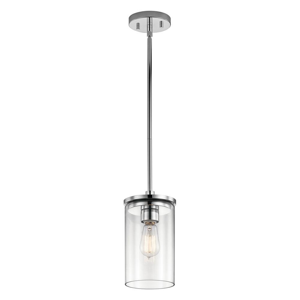 Kichler Lighting Crosby 1 Light Mini Pendant Lowe S Canada Glass Cylinder Pendant Light Mini Pendant Lights Glass Pendant Light