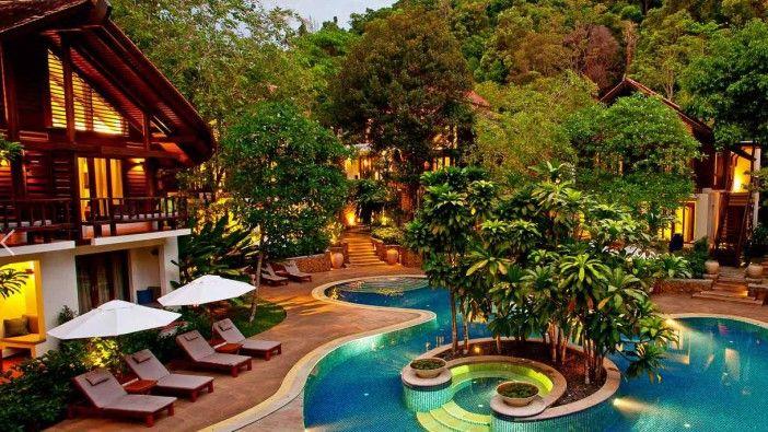le tubkaak krabi resort un h tel au calme avec une plage de r ve priv e thailand pinterest. Black Bedroom Furniture Sets. Home Design Ideas