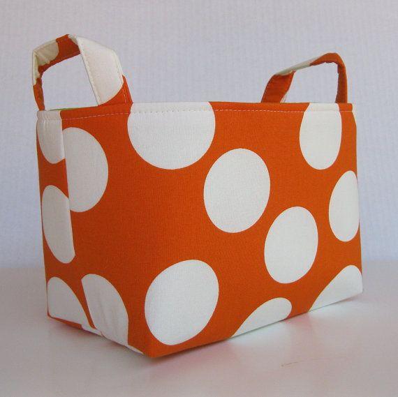 Fabric Organizer Storage Container Basket Bin  by BaffinBags, $18.00