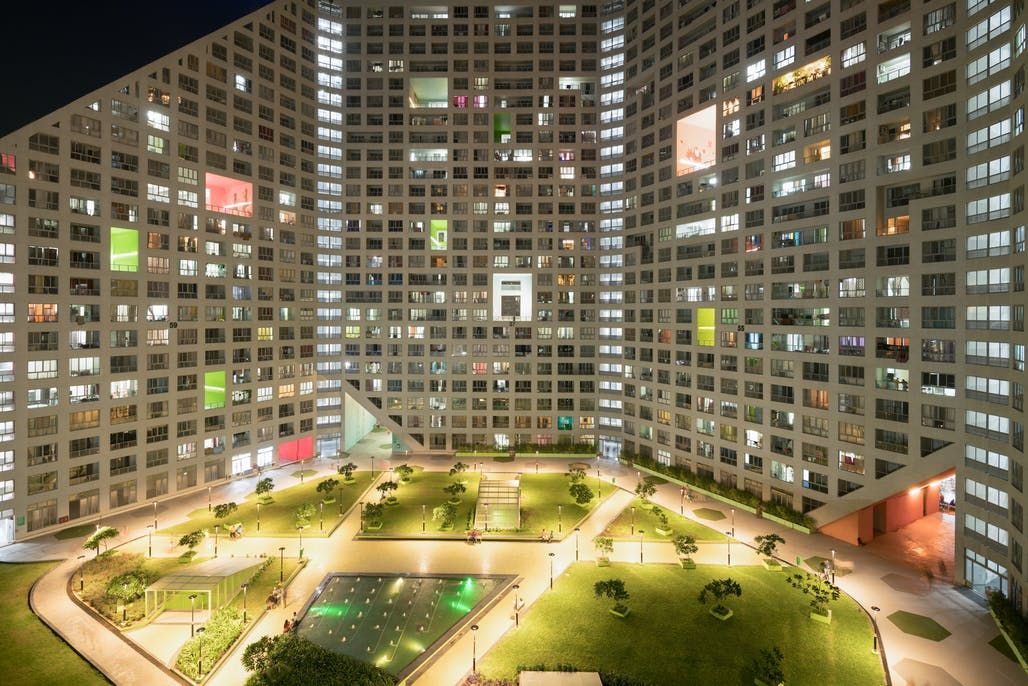 Mvrdv Completes Ambitious Mass Housing Scheme Located On The Outskirts Of Pune India Residential Complex Architecture Blog Construction Cost