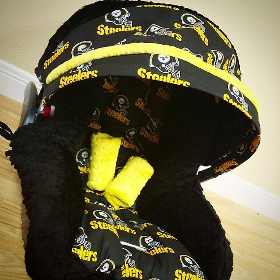 Pittsburgh Steelers Infant Car Seat Replacement Cover You Choose Colors All NFL Teams Available