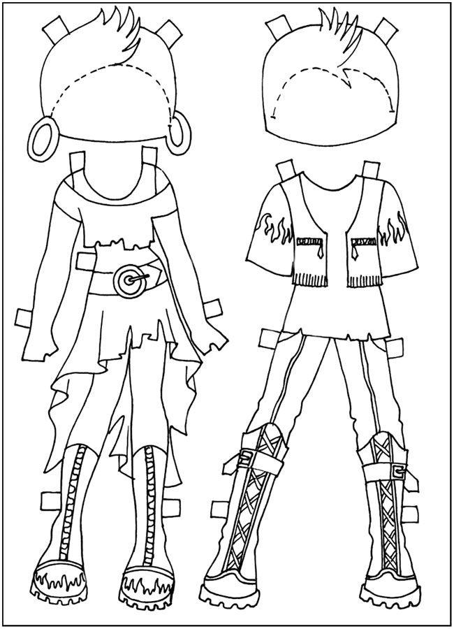 картинки для скачивания и распечатывания, Куклы-вырезалки ...