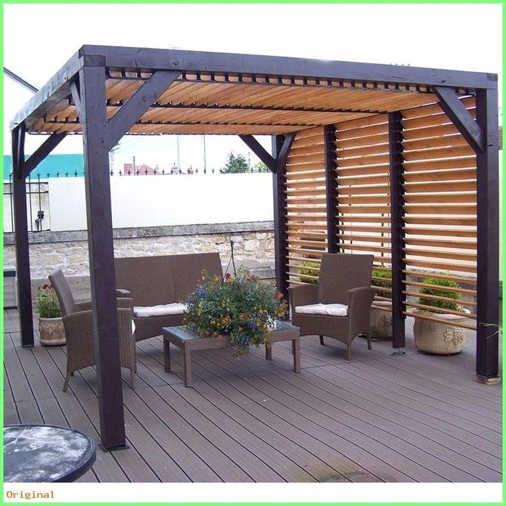 50+ Modernes Dekor - Holz Pergola mit abnehmbaren Blättern für Dach und Wand 348x310x232cm O #woodenwalldecor