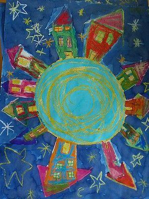 Extrem peinturer notre monde! | maisons en maternelle | Pinterest | Notre  UD27