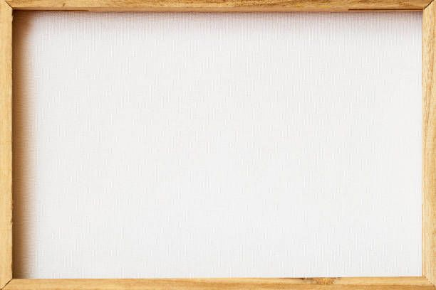 canvas frame scratched back reverse side for framed painting image on