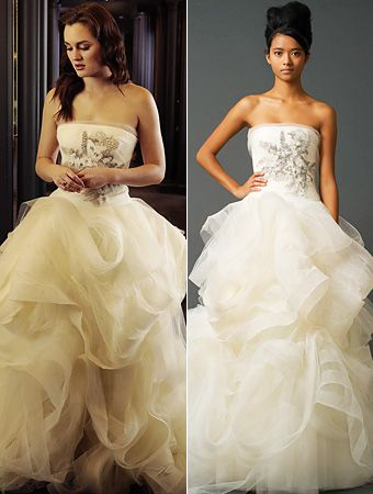 8c031714a1d2 ... Blair Waldorf's January nuptials on Gossip Girl. My dream wedding dress.  I would die to have this!