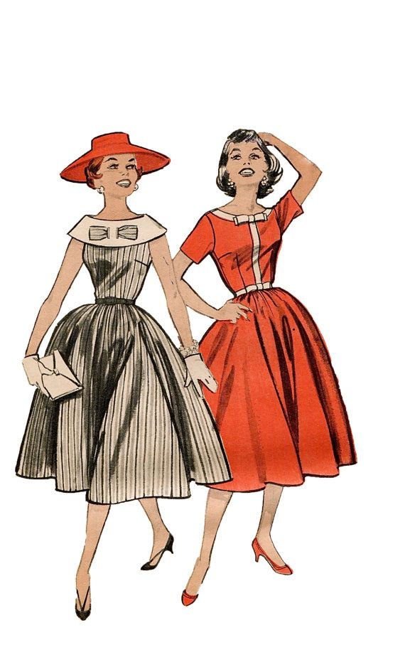 Hey, I found this really awesome Etsy listing at https://www.etsy.com/listing/130419351/1950s-butterick-8408-great-bodice-full