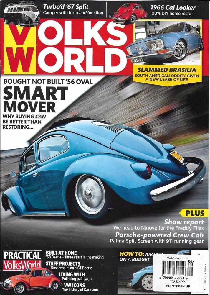 Volks World Car Magazine Oval Brasilia Porsche Powered Crew Cab