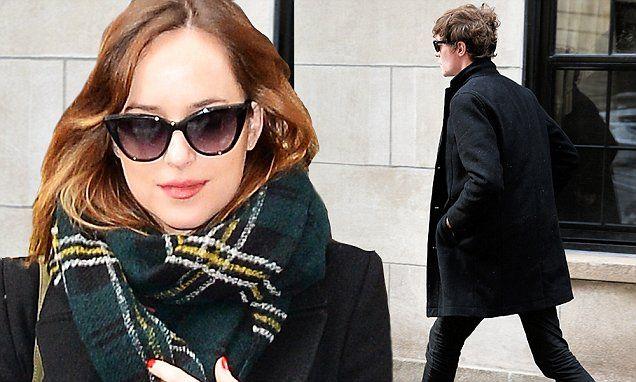 Dakota Johnson and Matthew Hitt leaves her NYC apartment moments apart