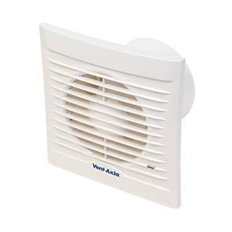 Order Online At Screwfix Com Abs White Square Grille Vertically Or Horizontally Mounted Bathroom Extractor Fan Extractor Fans Bathroom Extractor
