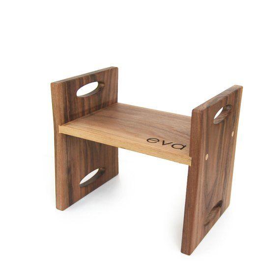 Pleasing Kids Walnut Step Stool In 2019 Products Kids Stool Machost Co Dining Chair Design Ideas Machostcouk