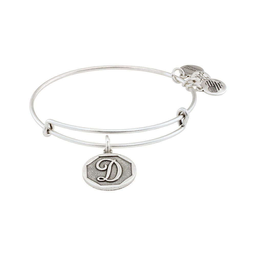 930197caf41 Color: Rafaelian silver finish. Shape: Round. Item Type: Bracelets. Swatch  Attribute: Initial. Features an initial D script letter charm.