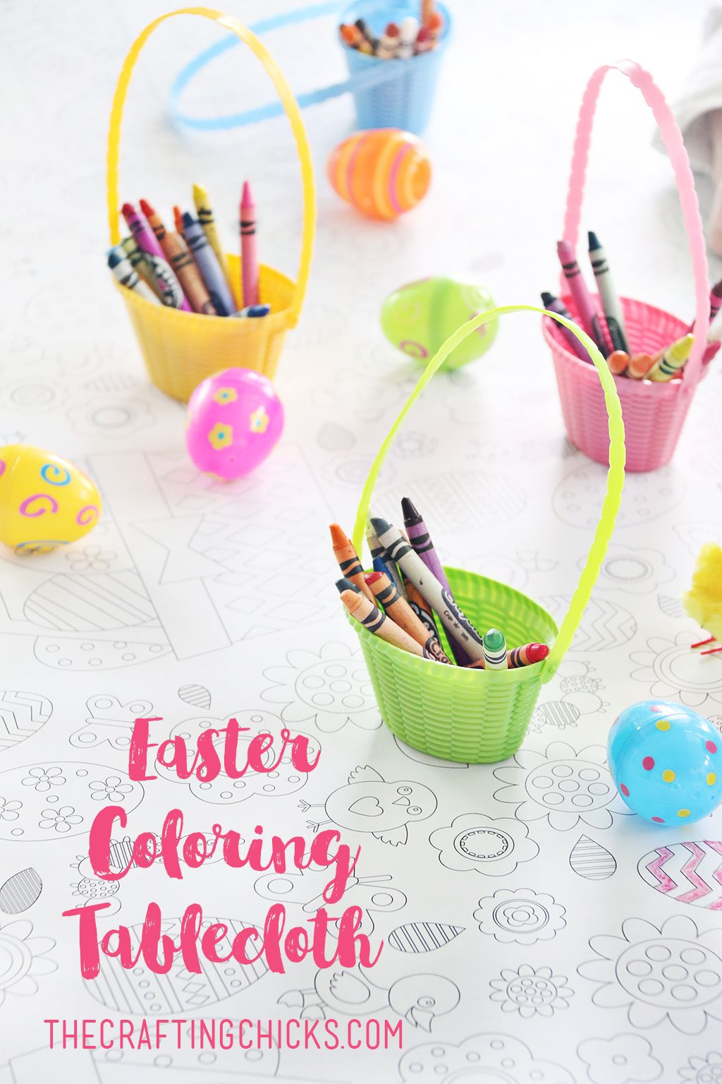Easter Coloring Tablecloth | Easter colouring, Easter dinner and Easter