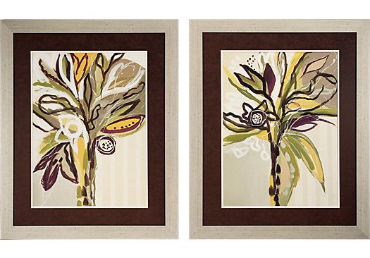 Shop for a Serene Floral Set of 2 Artwork at Rooms To Go. Find Wall Decor that will look great in your home and complement the rest of your furniture. #iSofa #roomstogo
