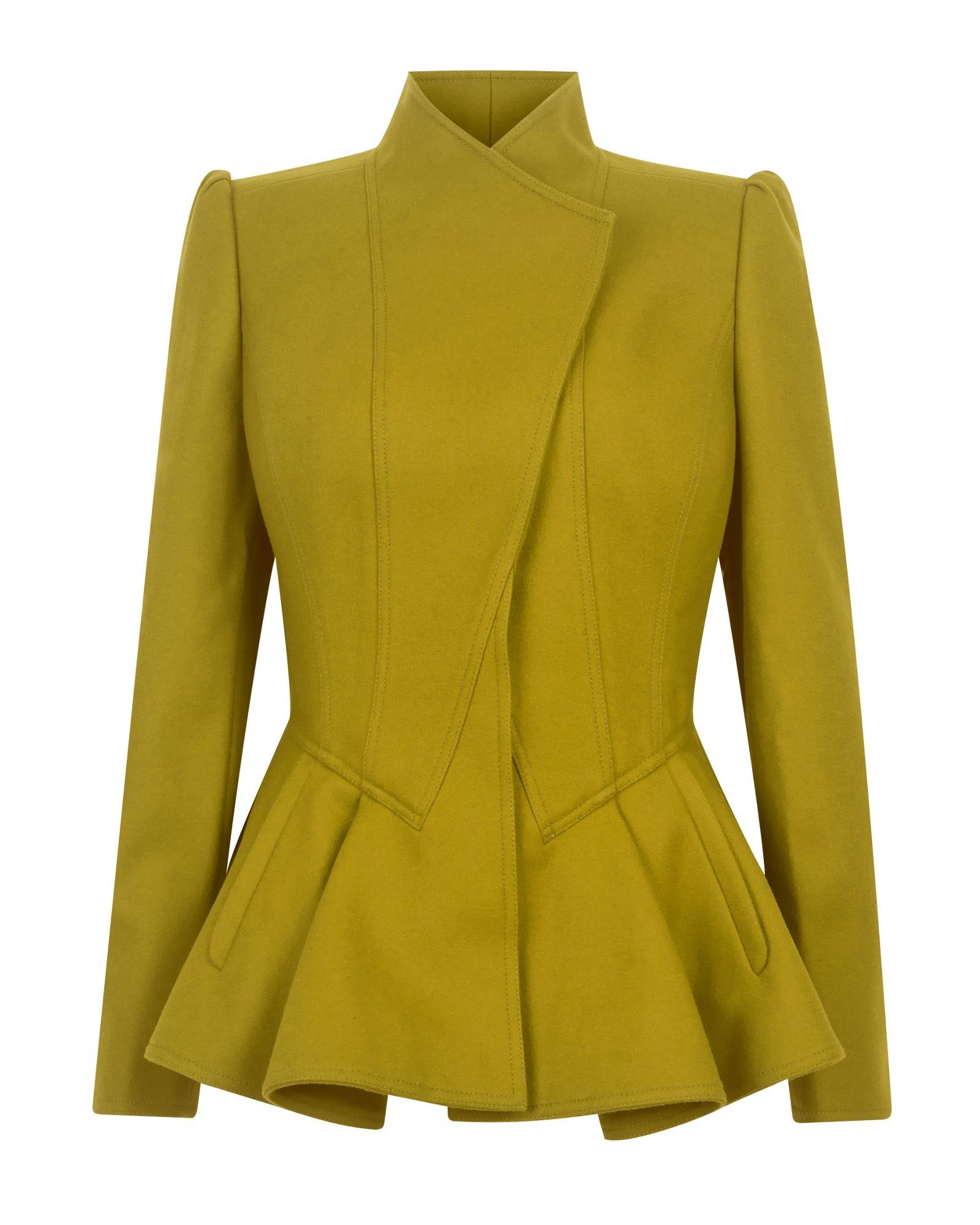 f88ad28b4 Ted baker Wrenn Wool Peplum Jacket in Green | Lyst | Fashionistas ...