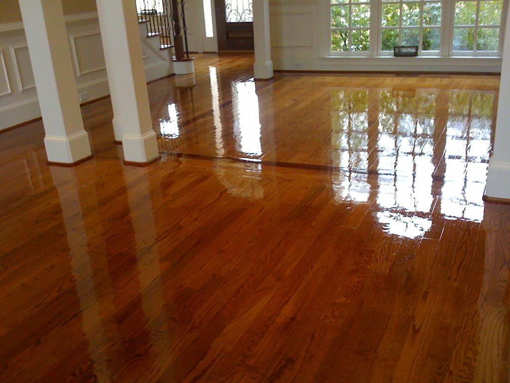 Brazilian cherry border on oak floors english chestnut stain by m s construction hardwood flooring