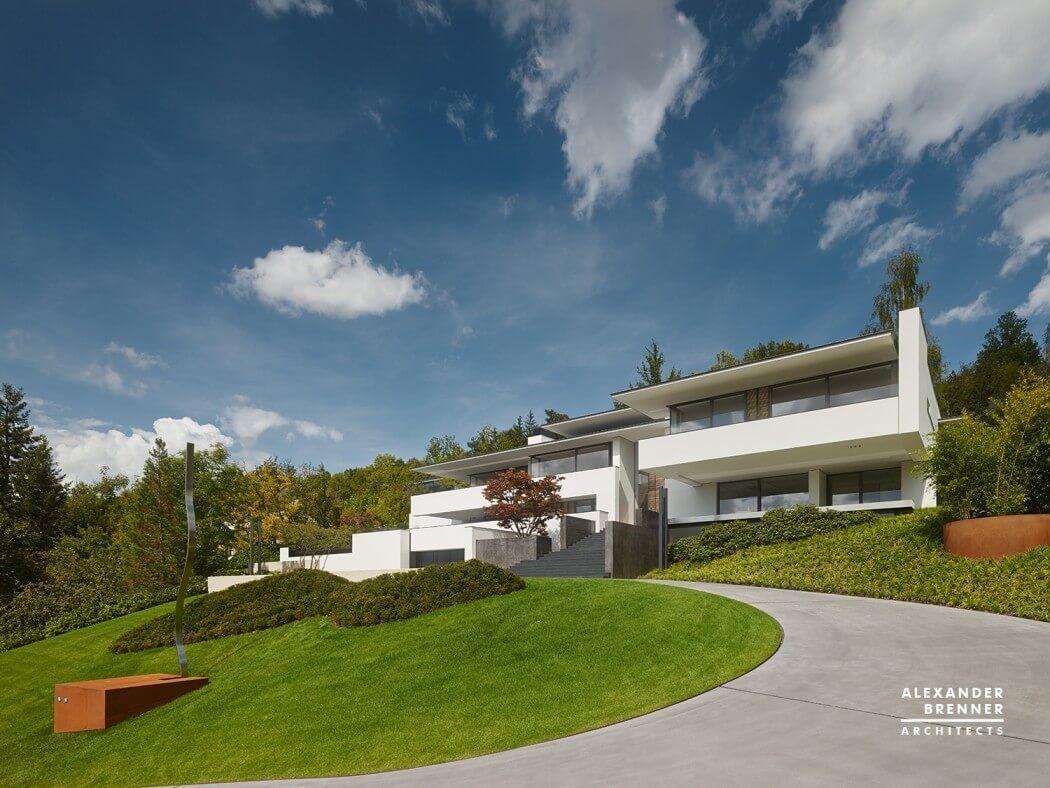 Modern single family house designed by Alexander Brenner Architekten ...