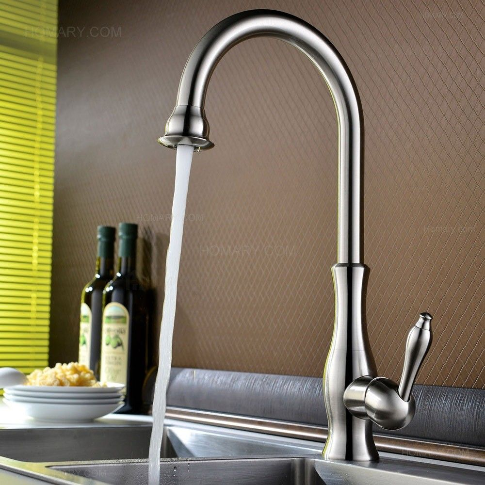 Tracier Single Handle Gooseneck Vintage Kitchen Sink Faucet in ...