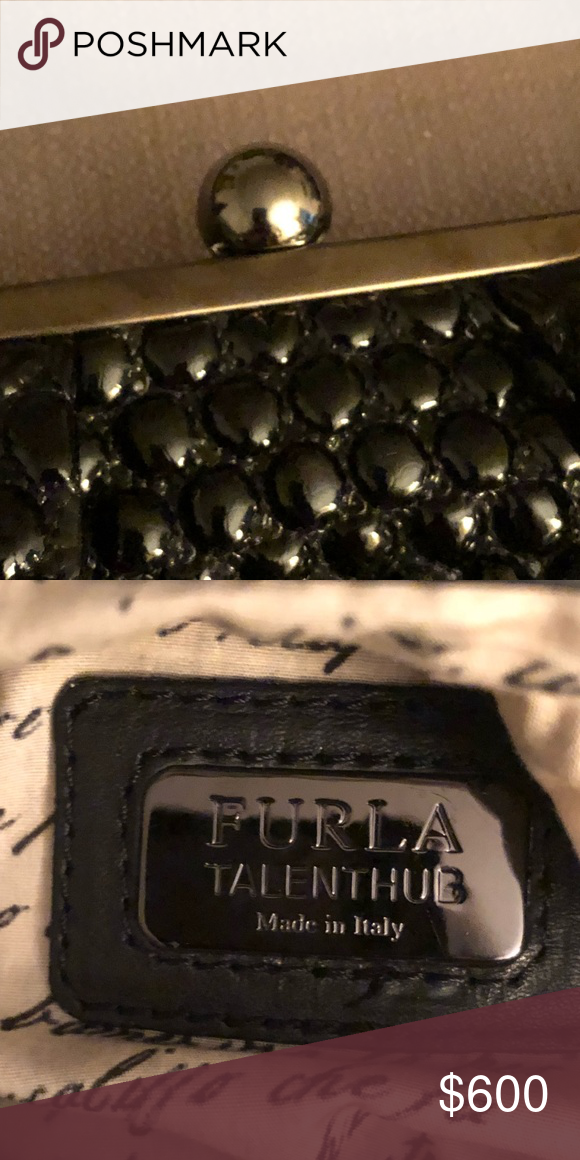 c824bc351 Furla Talent Hub Leitmotiv Limited Edition Bag AUTHENTIC FURLA TALENT HUB  Silver Leather Shoulder Hobo Bag Printed Lining Extremely gorgeous material  and ...