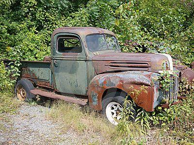 Old Rusty Ford Pickup Truck Trucks Classic Trucks Old Trucks