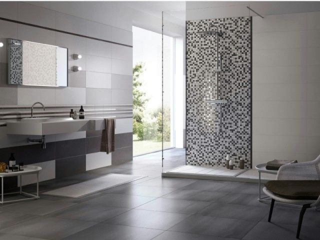 faïence salle de bains ? 88 des plus beaux carrelages design ... - Faience De Salle De Bain