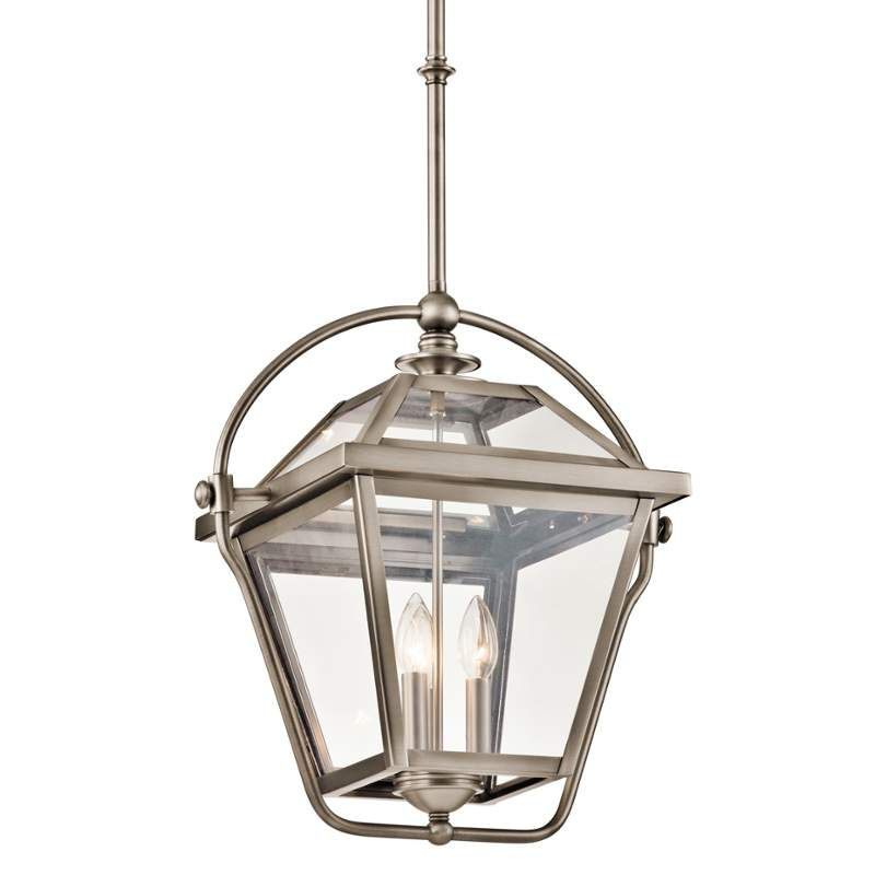 View the kichler 42909 ryegate 3 bulb indoor pendant with lantern view the kichler 42909 ryegate 3 bulb indoor pendant with lantern style glass shade mozeypictures Images