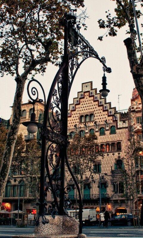 En Paseo De Gracia Passeig De Gracia Barcelona España Barcelona Ciudad