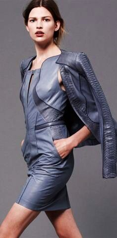 What a stylish PU leather dress. Find the material on http://3399sl.com